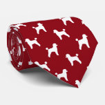 Toy Poodle Silhouettes Pattern Tie