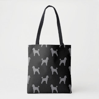 Toy Poodle Silhouettes Pattern Tote Bag
