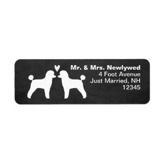 Toy Poodle Silhouettes with Heart Label