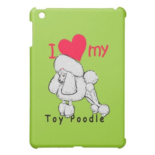 Toy Poodle title iPad Mini Cover