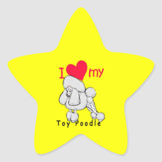 Toy Poodle title Star Stickers
