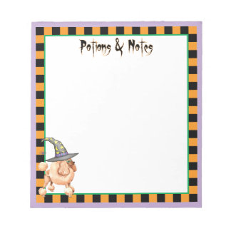Toy Poodle Witch Note Pad