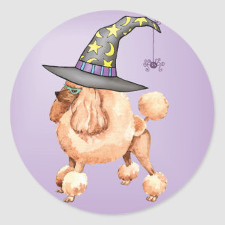 Toy Poodle Witch Classic Round Sticker