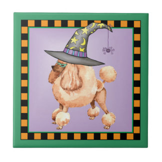 Toy Poodle Witch Tile