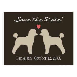 Toy Poodles Wedding Save the Date Postcard