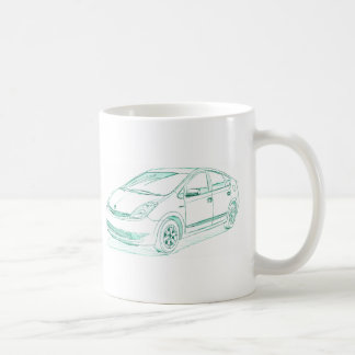 Toy Prius gen2 2004+ Classic White Coffee Mug