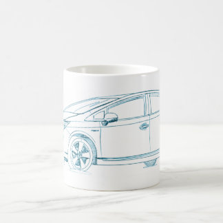 Toy Prius Gen3 2010+ Classic White Coffee Mug