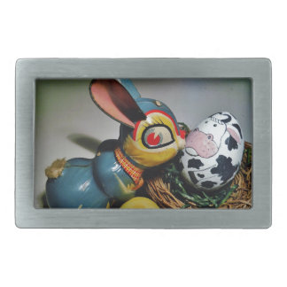 Toy Rabbit and  cow egg Belt Buckle