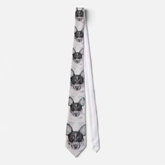 Toy Rat Terrier Tie artwork by Carol Zeock