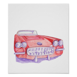 Toy Red Car Poster
