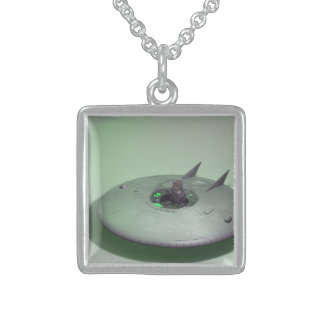 Toy Robo Saucer Sterling Silver Necklace