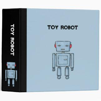 Toy Robot blue Binder