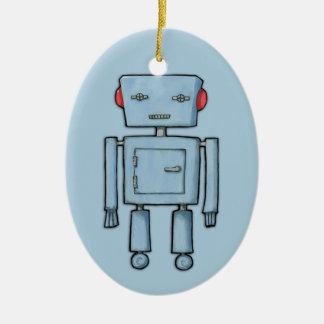 Toy Robot blue Ornament