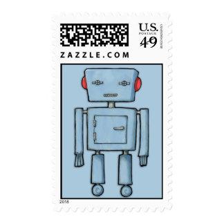 Toy Robot blue Stamp