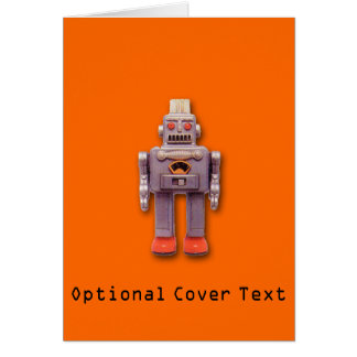 Toy Robot Custom Greeting Card