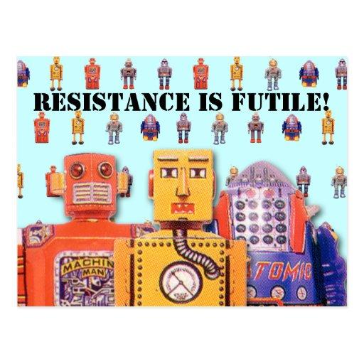 Toy Robot Custom Postcards