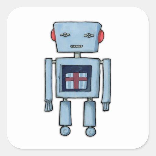 Toy Robot inside Square Sticker
