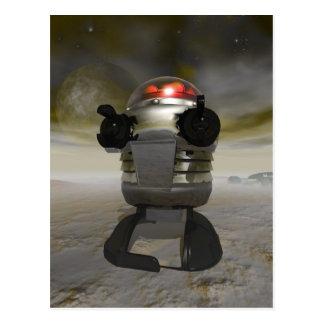 Toy robot on an Alien planet Postcard