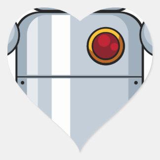 Toy robot heart sticker