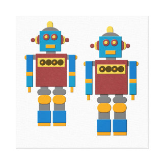 Toy Robots Gallery Wrapped Canvas