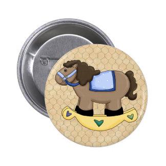 Toy Rocking Horse 2 Inch Round Button