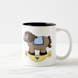 Toy Rocking Horse Two-Tone Coffee Mug