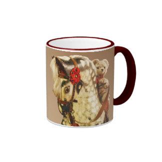 Toy rocking horse & teddy bear coffee mug