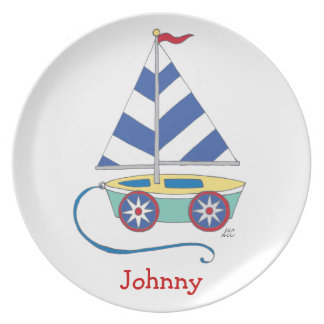Toy Sailboat for Boys Plate