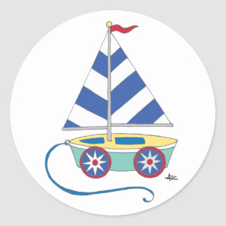 Toy Sailboat Sticker