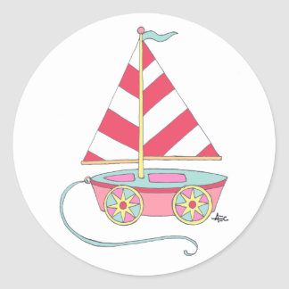 Toy Sailboat Stickers Nautical It's a Girl