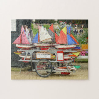Toy Sailboats, Luxembourg Gardens, Paris Jigsaw Puzzle