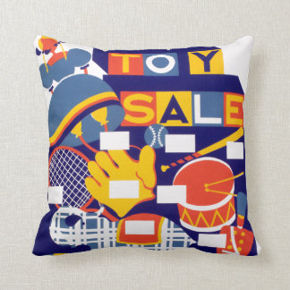 Toy Sale WPA Poster pillow