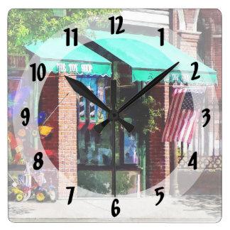 Toy Shop Bristol, RI Square Wall Clock