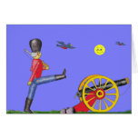 Toy Soldier and Toy Cannon...Card. Card