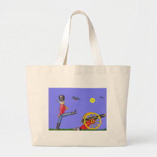 Toy Soldier and Toy Cannon...Tote Bag. Large Tote Bag