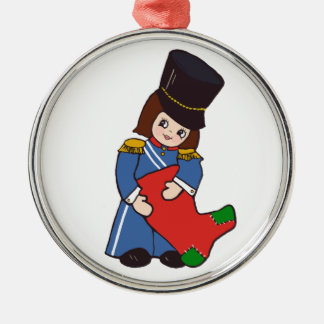 Toy Soldier Girl Metal Ornament