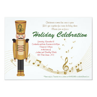Toy Soldier Holiday Christmas Party Invitation