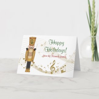Toy Soldier Holiday Greeting Card card