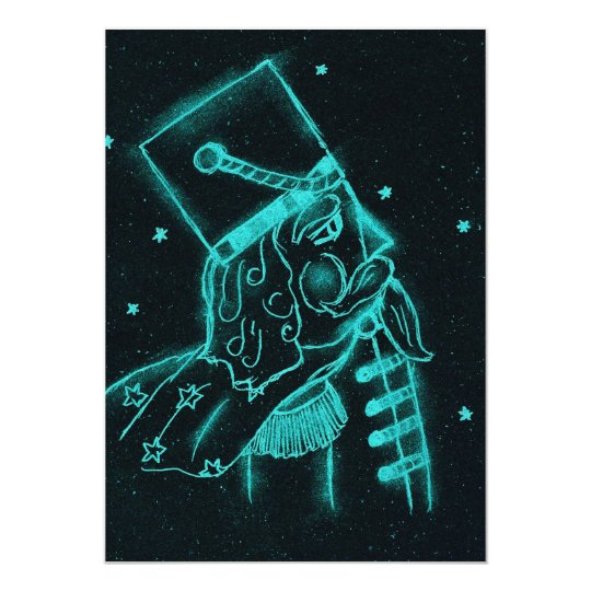 Toy Soldier in Black and Aqua Card