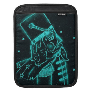 Toy Soldier in Black and Aqua iPad Sleeve