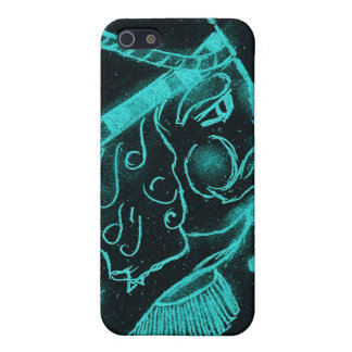 Toy Soldier in Black and Aqua iPhone SE/5/5s Case