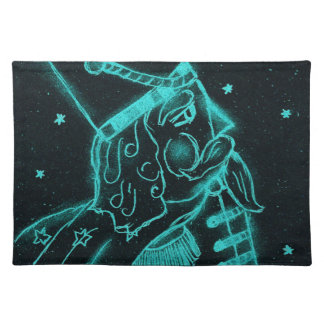 Toy Soldier in Black and Aqua Placemat