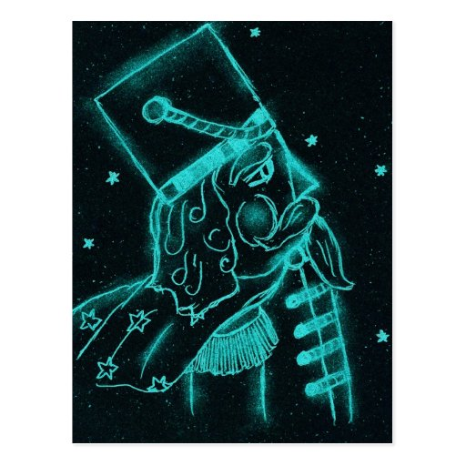 Toy Soldier in Black and Aqua Post Cards