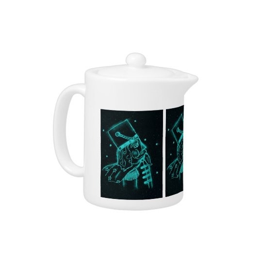 Toy Soldier in Black and Aqua Teapot