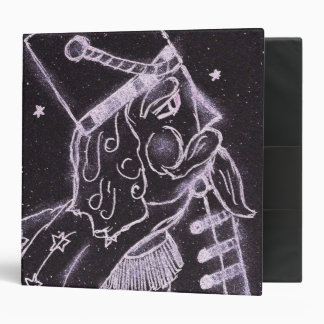 Toy Soldier in Black and Purple Binder