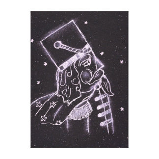 Toy Soldier in Black and Purple Canvas Print