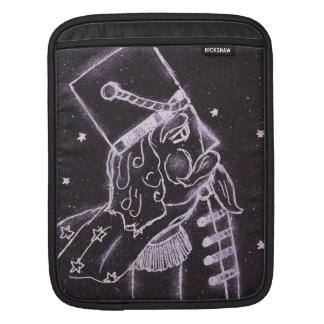 Toy Soldier in Black and Purple iPad Sleeves
