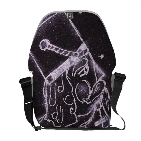 Toy Soldier in Black and Purple Messenger Bag