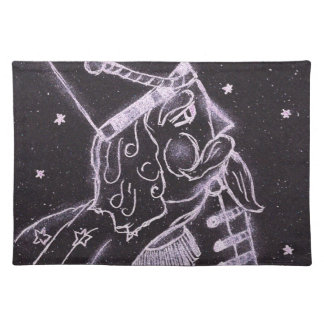 Toy Soldier in Black and Purple Placemat