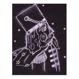 Toy Soldier in Black and Purple Postcard